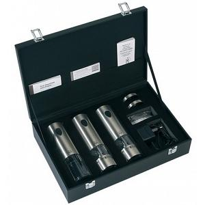 Peugeot Elis 3 Pc Electric Salt, Pepper & Corkscrew Set